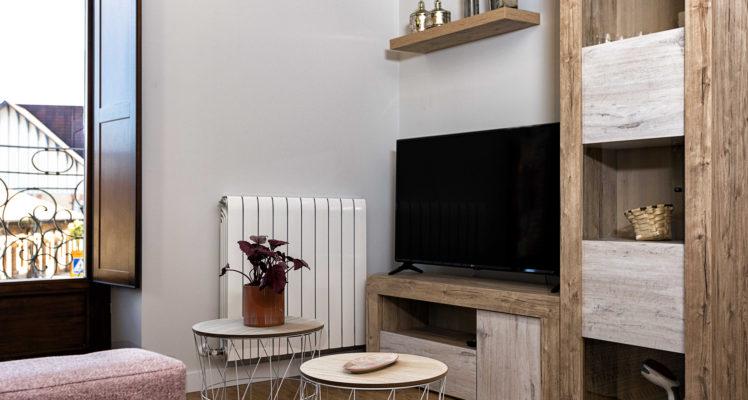 Salón con televisión – Apartamento Turístico Barricas – RiojaValley